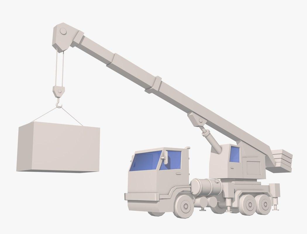 crane truck 3D model