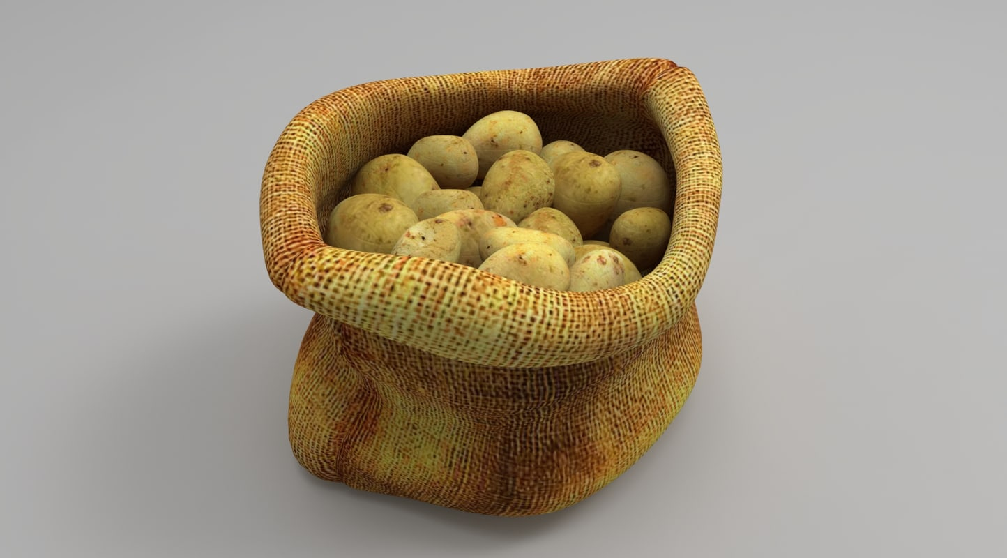3D sack potato