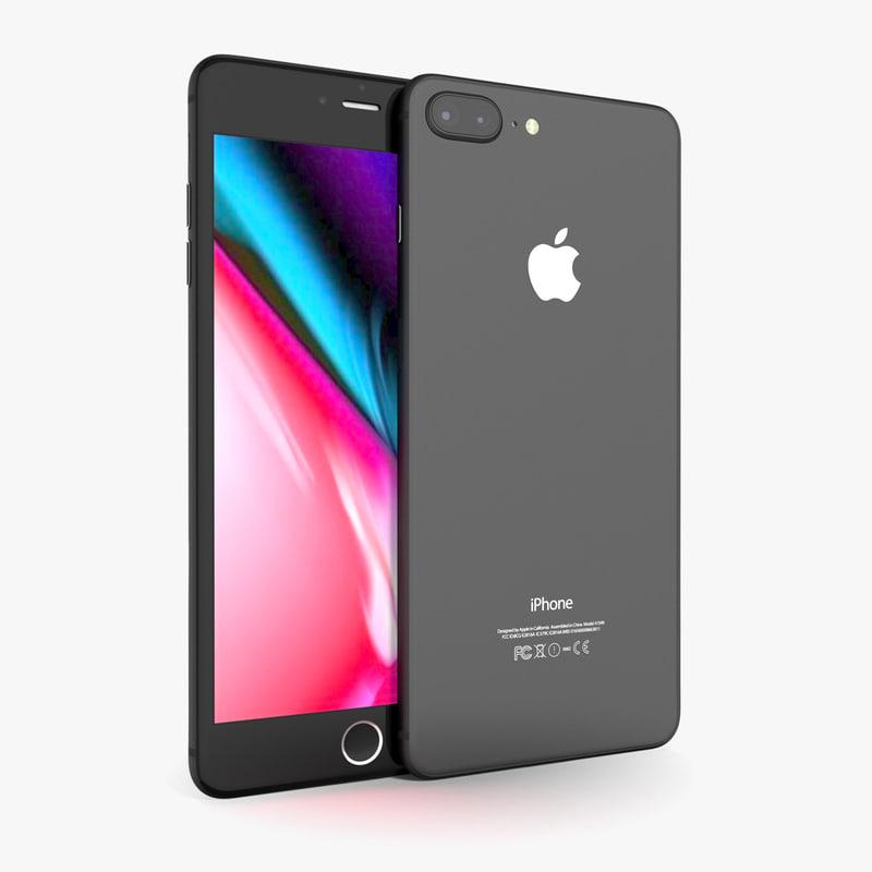 3D apple iphone 8 space model