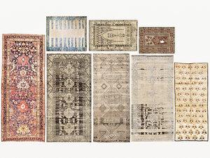 3D old vintage carpets 01