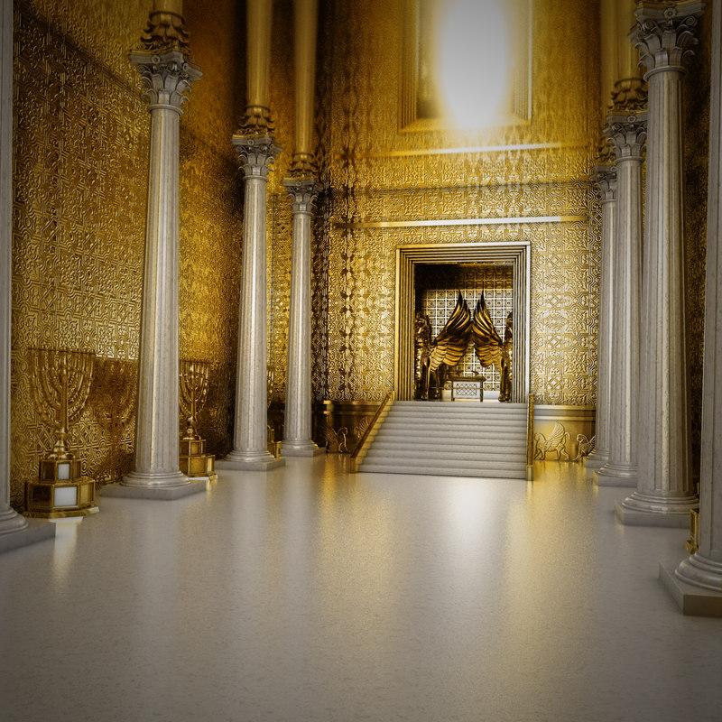 3D solomon temple interior herod model
