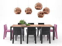 3D dining set 1 model