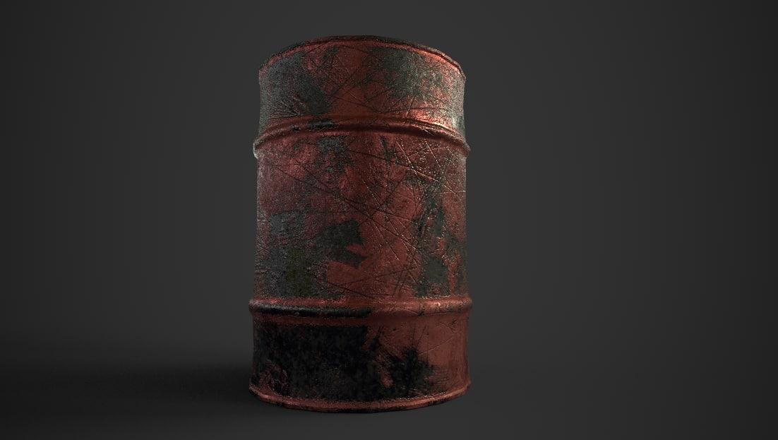 oil drum 3D