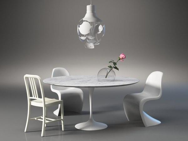 dining set 4 model
