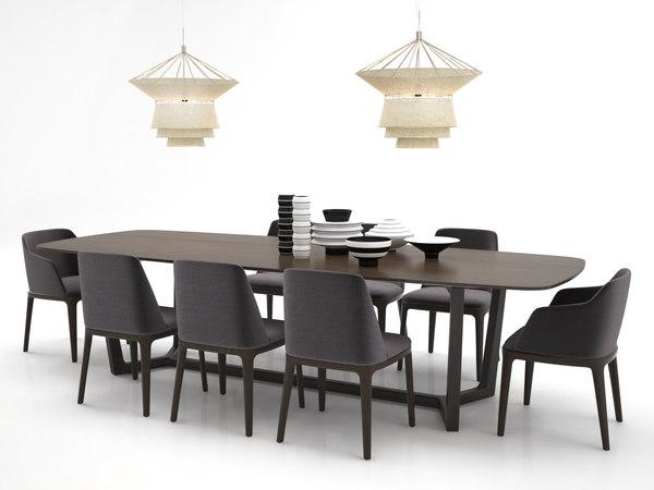 3D dining set 8
