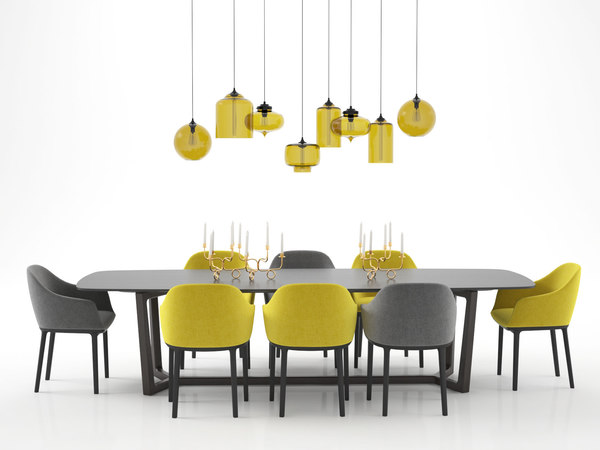 dining set 11 3D model
