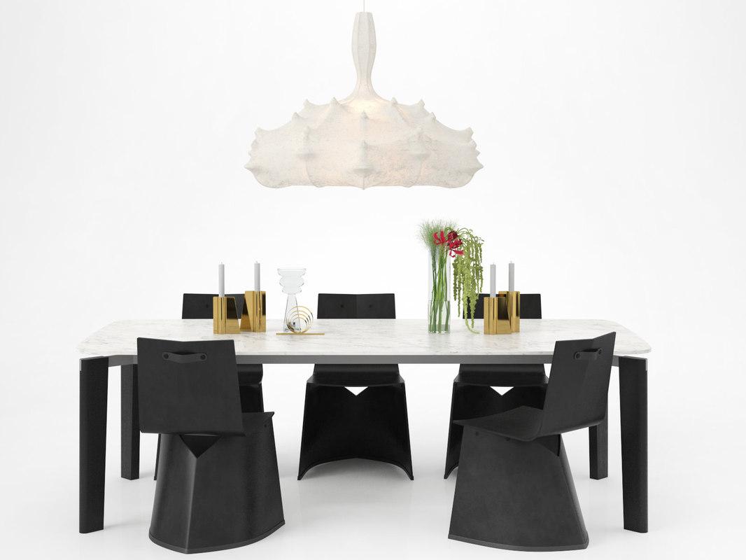 dining set 12 3D