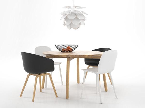 3D dining set 17 model