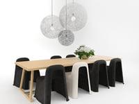 dining set 19 3D model