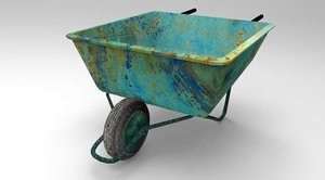 wheelbarrow wheel 3D