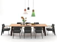3D dining set 32 model