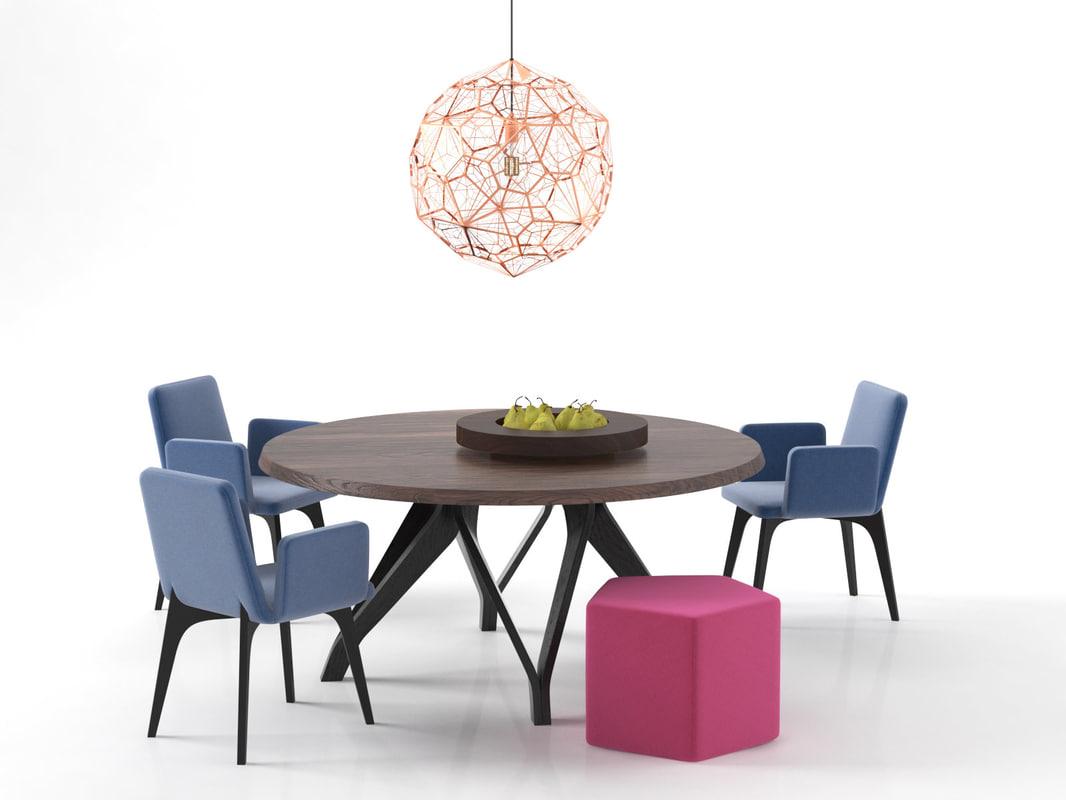3D dining set 51