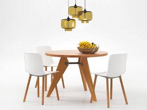 3D dining set 115 model