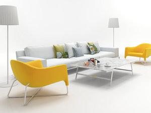 3D living set 7 model