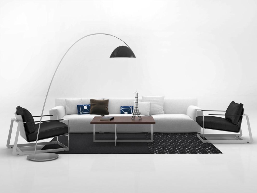 3D living set 8