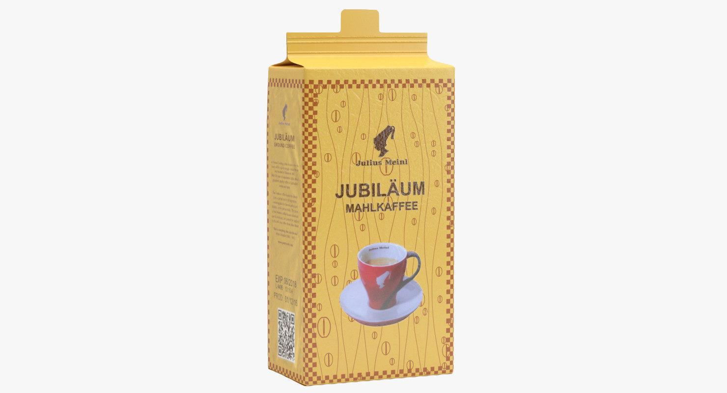 julius meinl coffee packaging 3D model