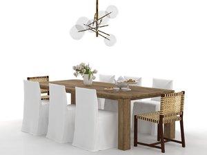 3D model dining set 122