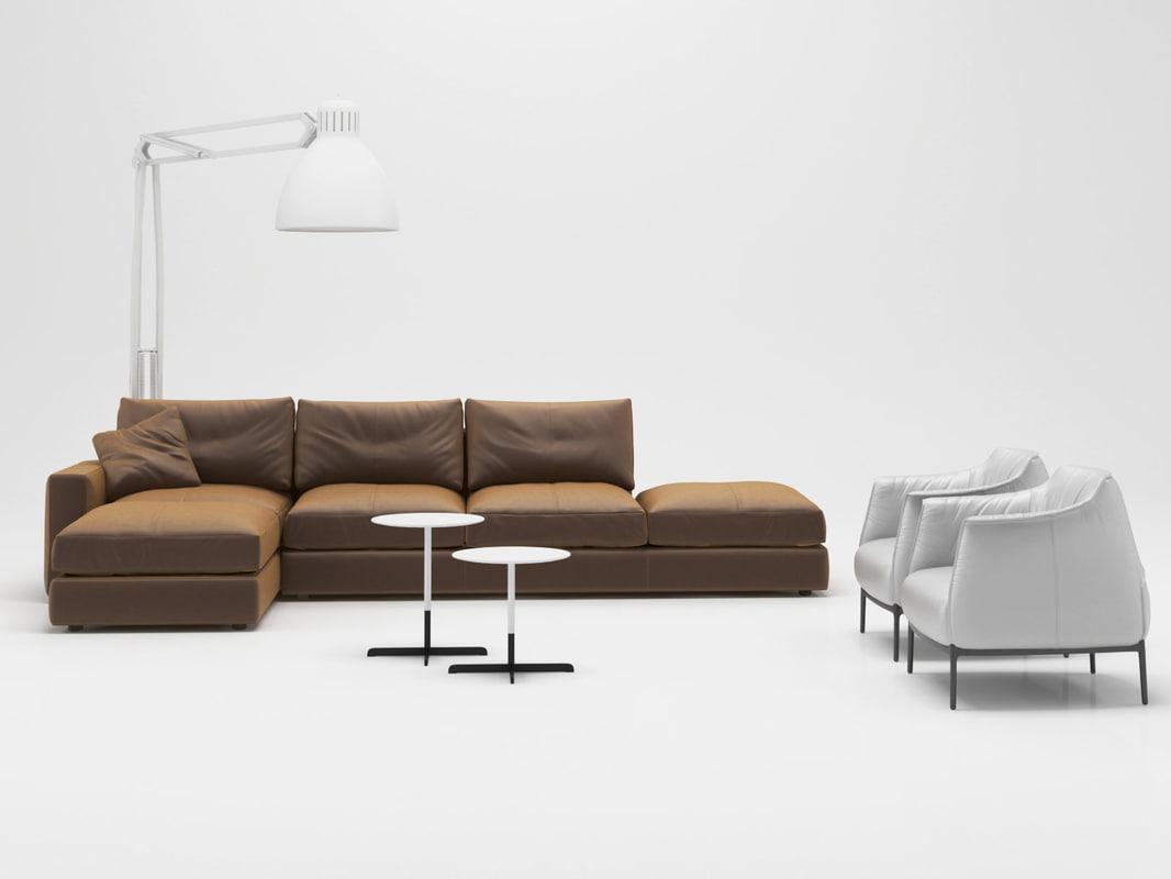 living set 9 3D model