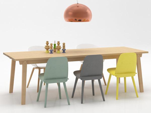 3D dining set 152