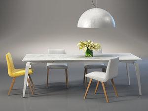 dining set 36 3D model