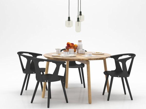 dining set 153 3D model