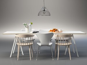 dining set 154 3D model