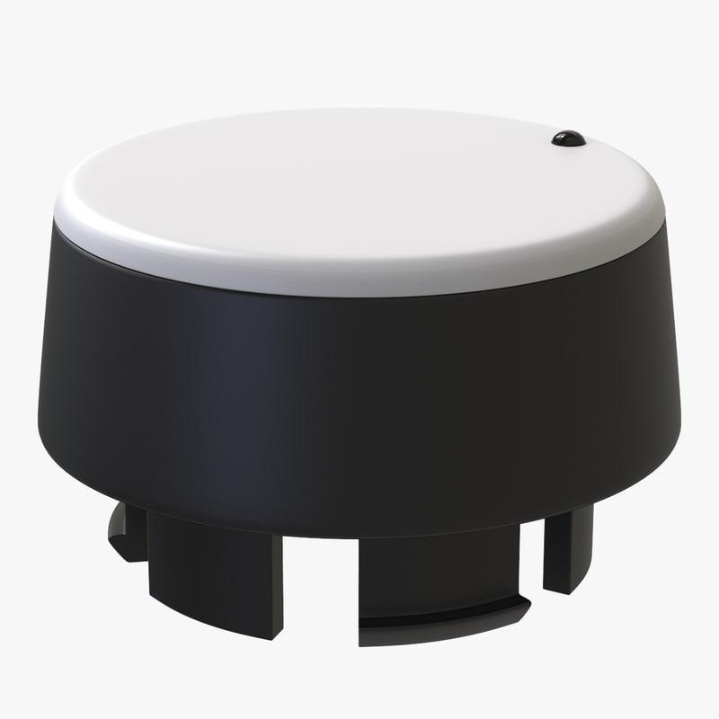 3D selector button model