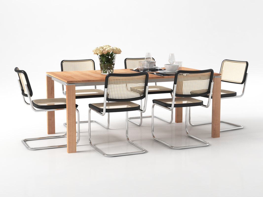 3D dining set 159 model