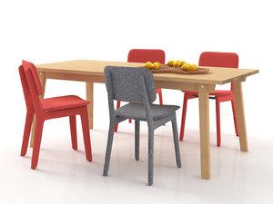 dining set 9 3D model