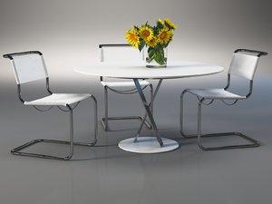 3D dining set 160 model