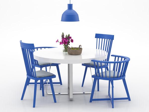 dining set 155 3D model