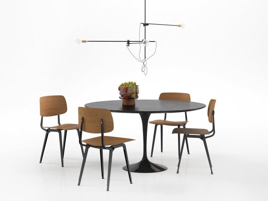 3D dining set 68