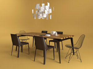 3D dining set 27 model