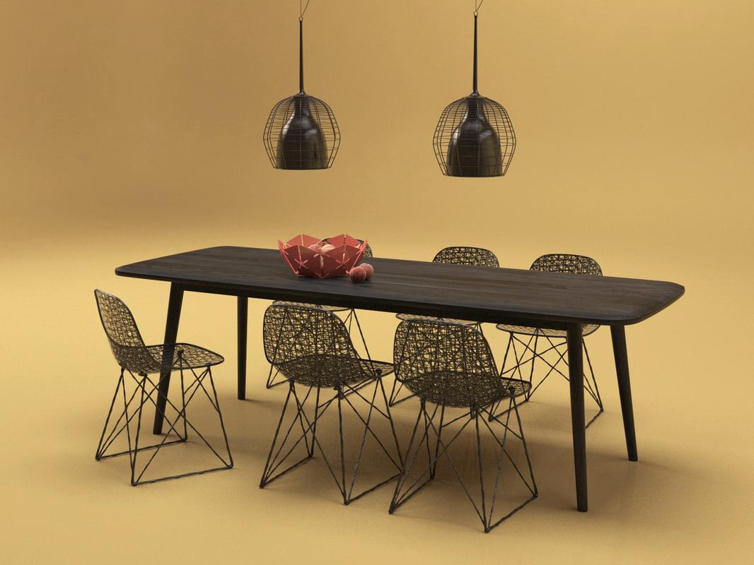 3D model dining set 41