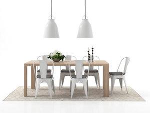 3D dining set 40 model