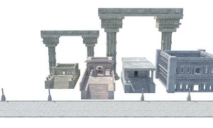 ancient roman greek architecture model