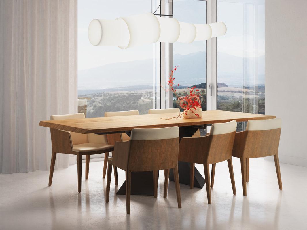 dining set 120 3D model