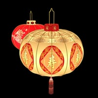 Chinese red lantern