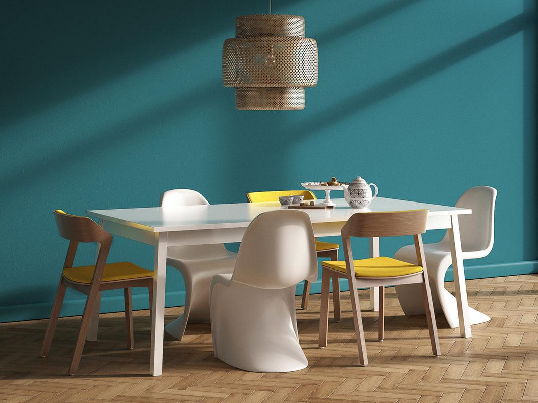3D model dining set 137