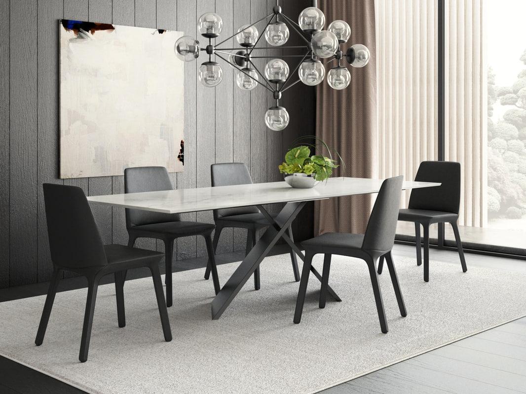 dining set 6 3D model