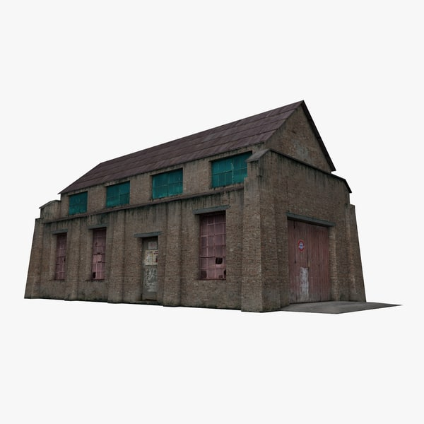 old warehouse house 3D model