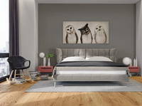 3D bedroom set 1 bed model