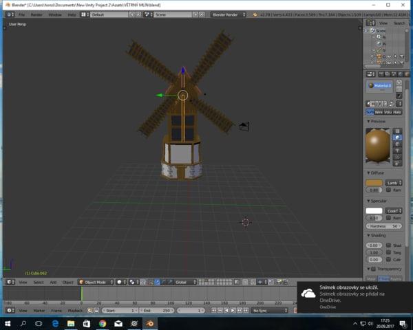 3D model blender