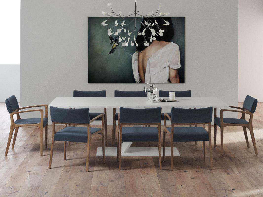 3D dining set 39