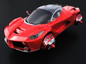 hover sport car 3D model