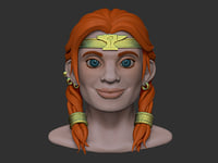3D dwarf girl model