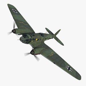 3D heinkel 111 bomber b3 model