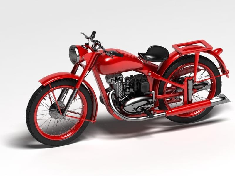 soviet motorcycle izh-49 3D