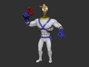 3D model earthworm jim