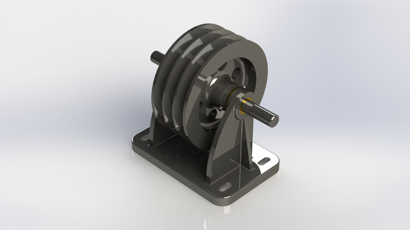 vee pulley bracket 3D model